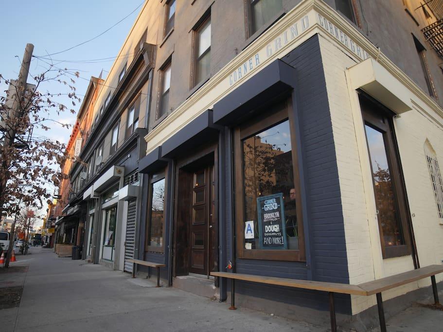 Corner Grind coffee shop