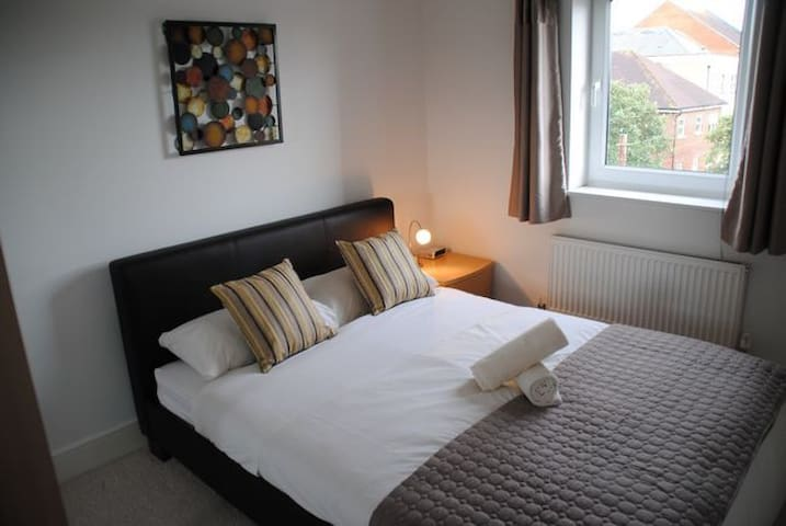 Bedroom with king sized bed & en-suite bathroom to give you room to relax