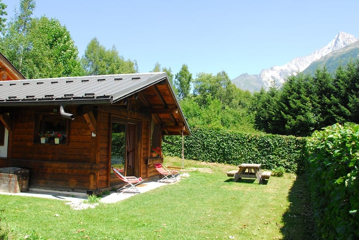 Small chalet facing the mont Blanc