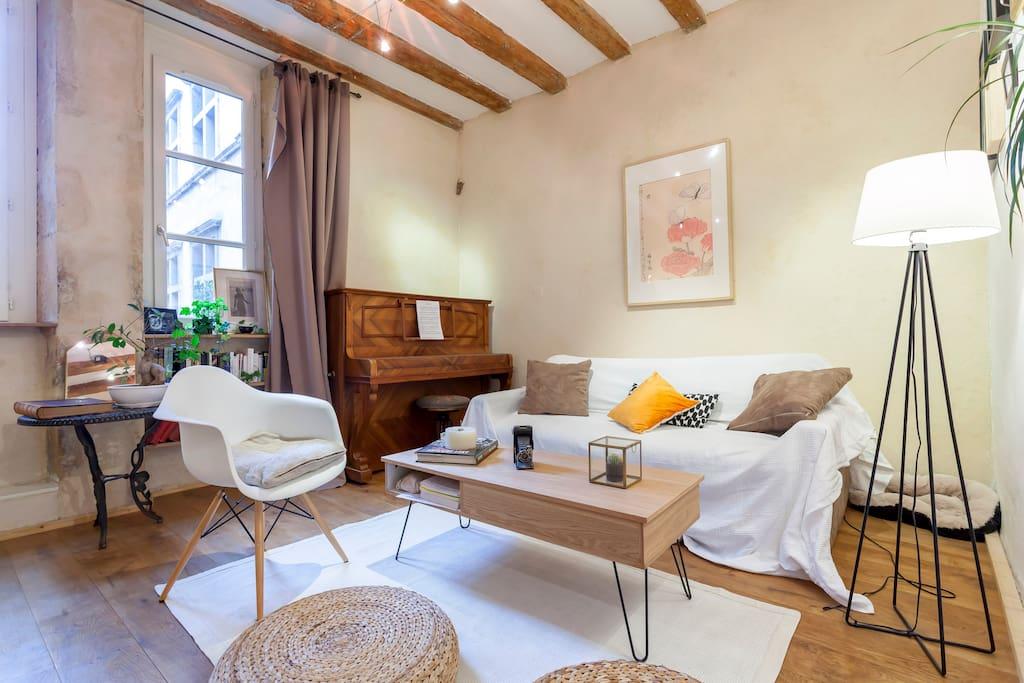 superbe studio au coeur du vieux lyon appartements louer lyon rh ne alpes france. Black Bedroom Furniture Sets. Home Design Ideas