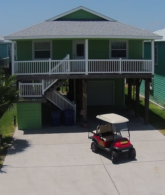 Option of adding golf cart to your stay. Contact owner regarding addition of golf cart. Cart is an additional $50 a night.