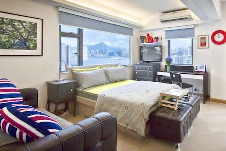In the heart of Eastern Hong Kong's neighbourhood, just next to Sai Wan Ho MTR station, this sunny, family-friendly harbor view 1 bedroom condo can sleeps 3 in all. Try to live like a local will make this your best Holiday Apartment in Hong Kong.