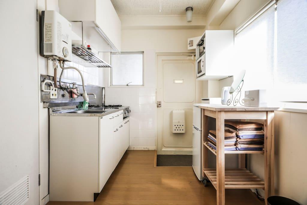 - Clean kitchen with Big window.