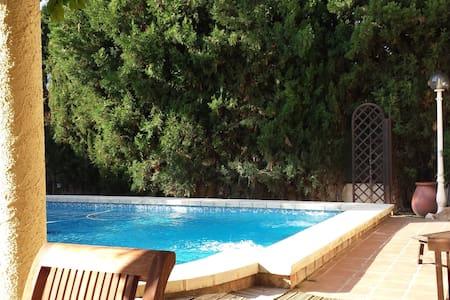 Doble con vistas piscina y baño ind - L'eliana