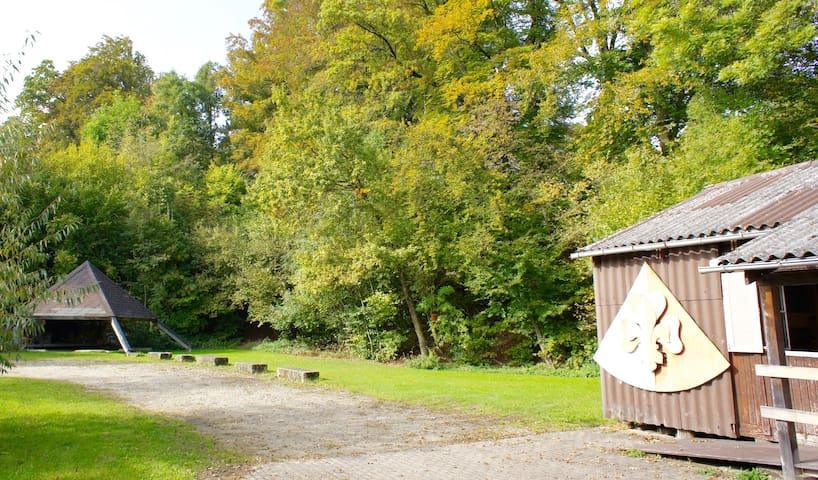 Pfadiheim Ortschwaben / scout cabin near Berne CH - Ortschwaben - Cabin