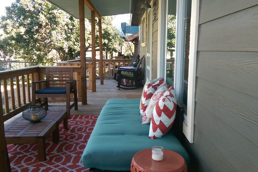 Relax on the porch with a good book or a local craft beer.