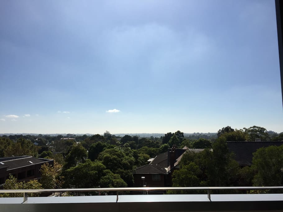 The view from the balcony