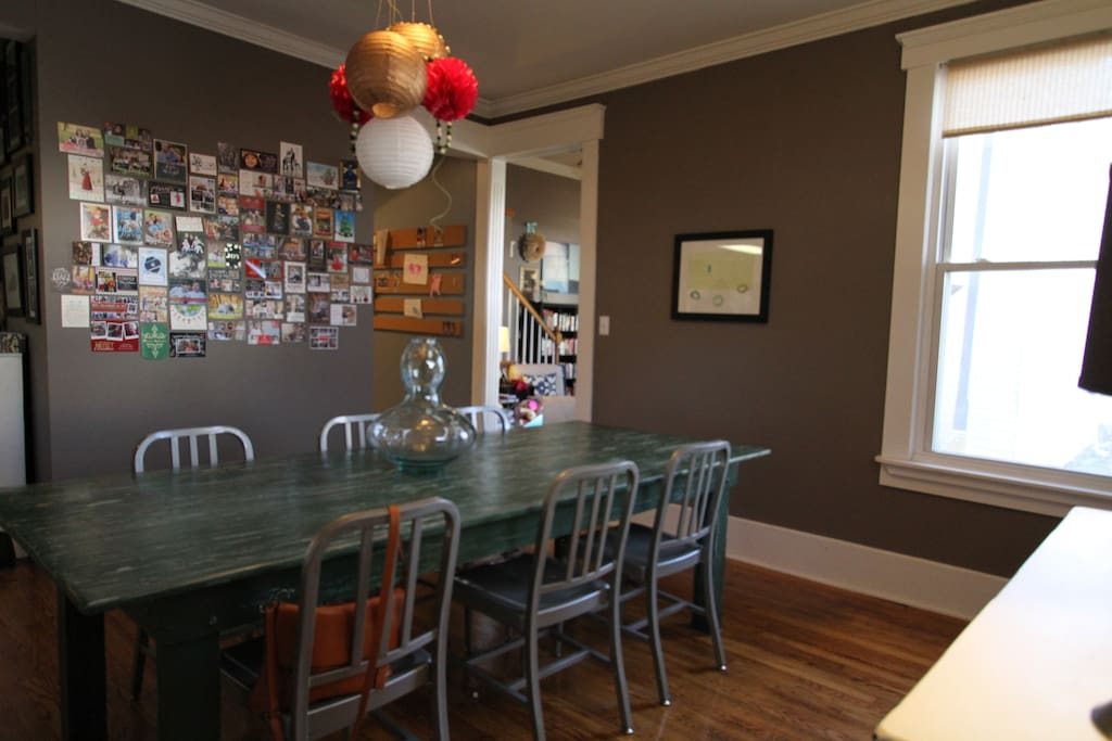 Dinning Room with huge farm table that seats 10!