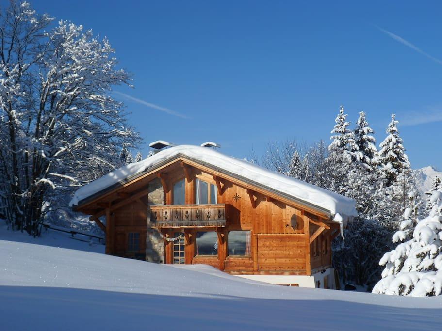 Ambiance hivernale au pied des pistes (Télésiège à 300m)