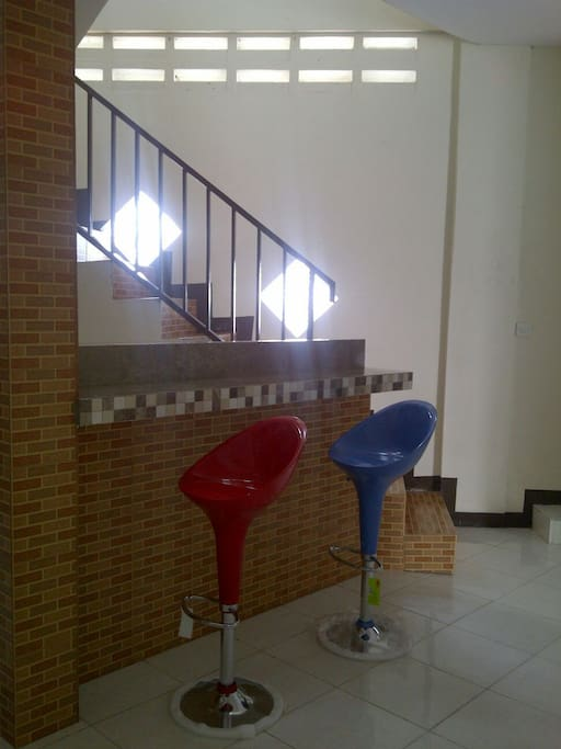 Stairs and table bar