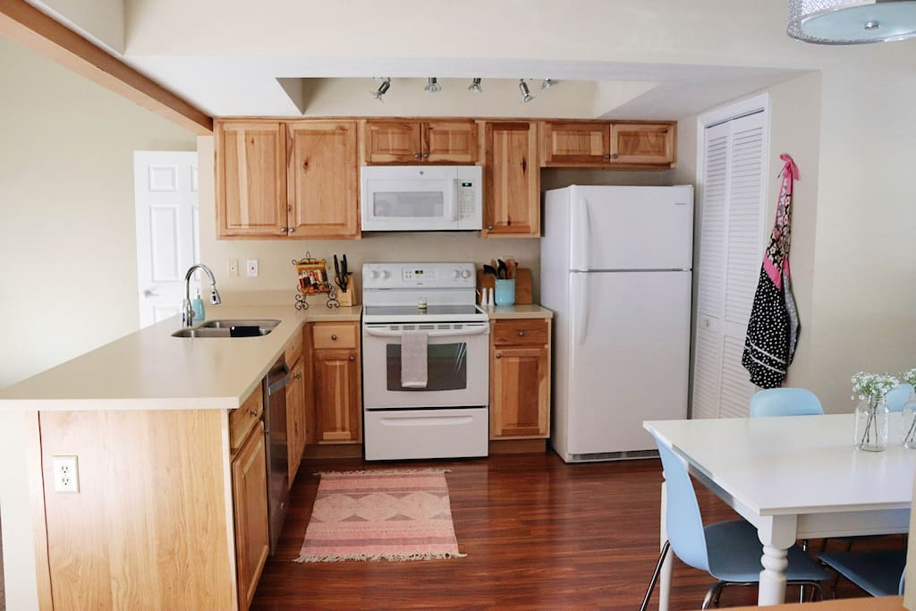 fully equipped kitchen with all the necessary appliances
