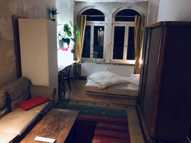 Zentrumsnahes Altbau-Zimmer mit Garten
