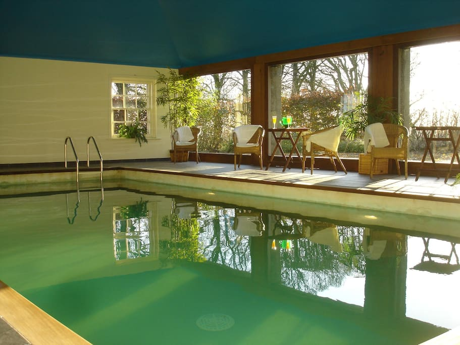 Our heated indoor pool
