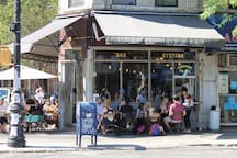 Five Leaves Restaurant, technically Greenpoint, but only 10 min walk. Cool area!