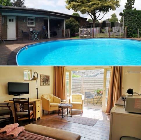 Luxe Gastensuite eigen ingang prive zwembad sauna