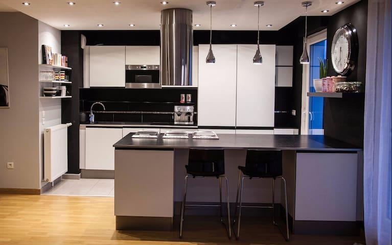 Appartement T2 avec Jardin, Neuf et Equipé - Cergy - Apartament