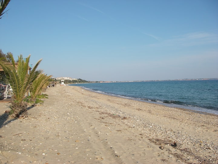 Just 50 meters to enjoy sun and sea.