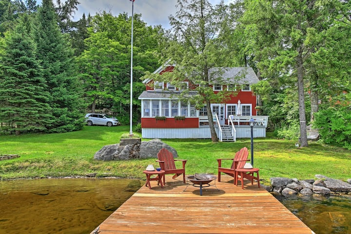 Cozy Pleasant Lake Escape w/ Dock, Deck & Fire Pit