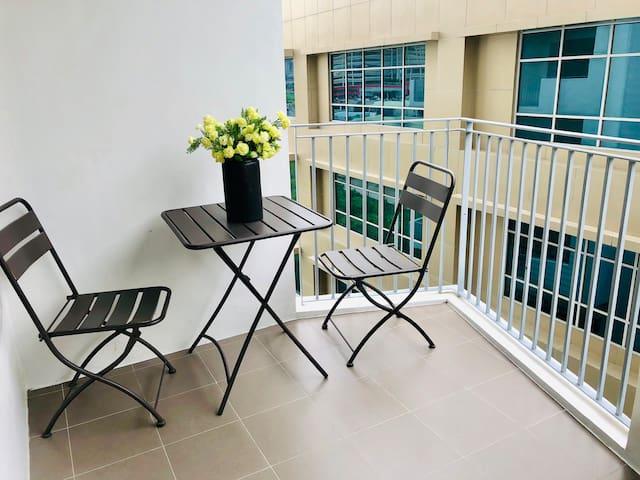 Studio with Balcony near SM and Parkmall