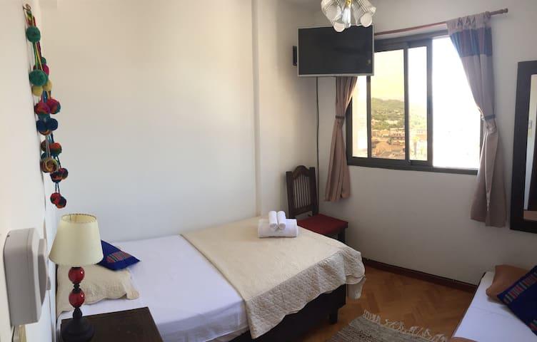 Double Bed Room + Shared Bathroom Plaza Belgrano