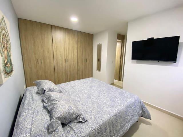 Habitación Principal, Colchón premium, TV 45', Netflix, Baño Independiente