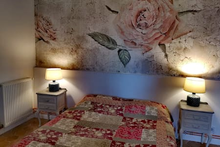 Chambre  double avec petit salon : Le Castellas