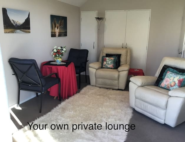 Your own private lounge with Leather recliner chairs