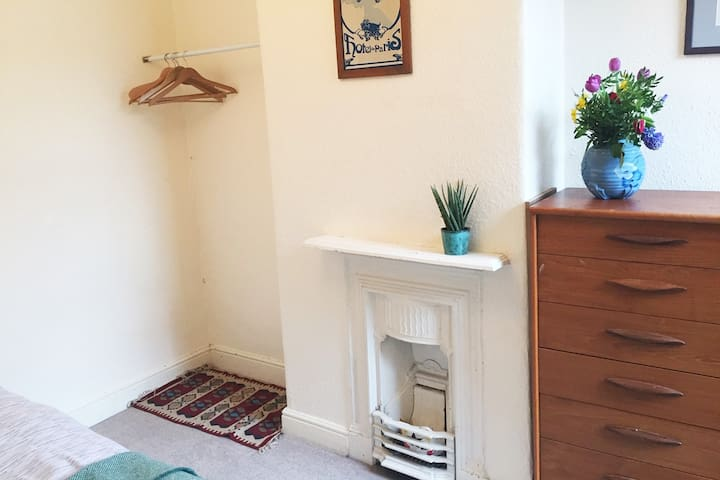 A double room in a cosy Edwardian terrace