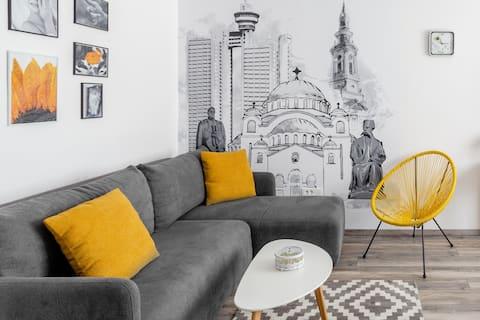 Casablanka Apartment in Central Zemun Near Danube