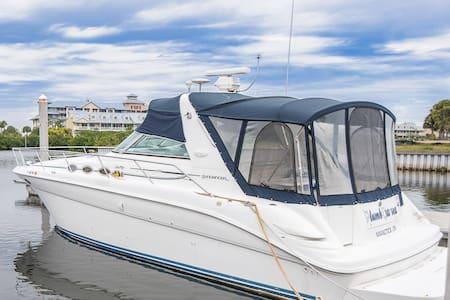 Waterfront Romantic Boat Getaway - Private Beach - Ruskin - Boot