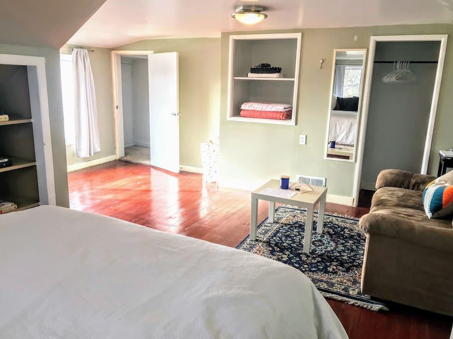 open area for an air mattress