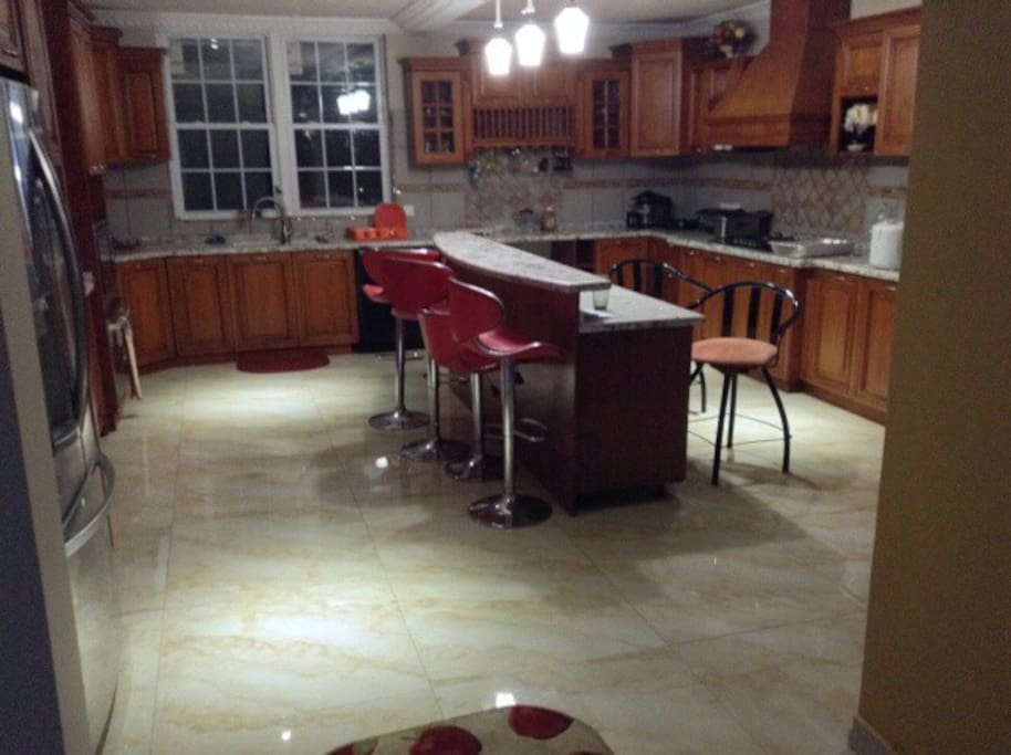 Spacious Kitchen.  Fully Applianced with center Island