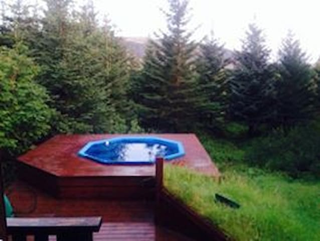 Colden Circle forest cabin with hot tub.