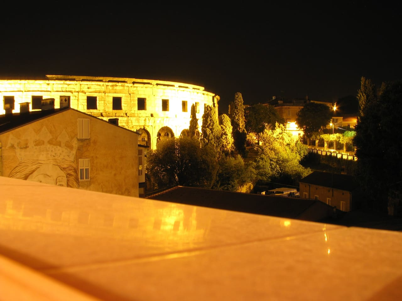 Night view from main terrace