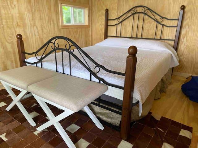 The loft has a wonderfully comfortable queen-sized bed made with upgraded linens and a crisp, clean white quilted comforter