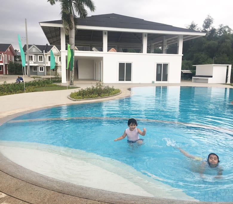 Newly built swimming pool and clubhouse