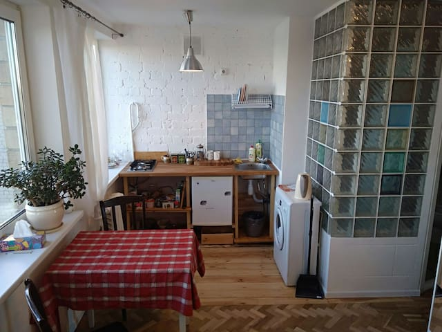 Cosy bright studio with a nice view - Kiev - Flat
