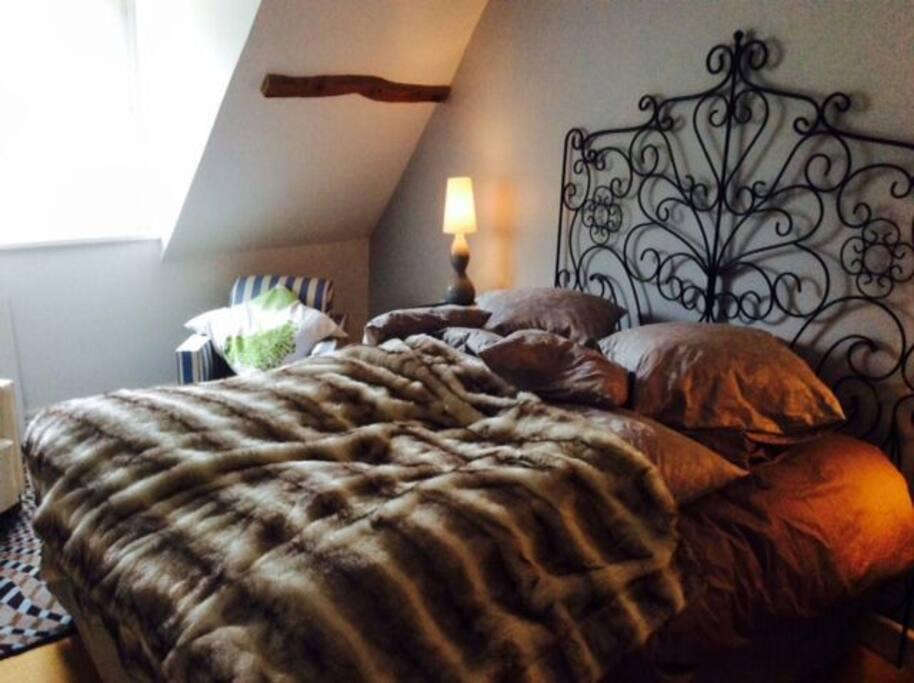 chambre 1  de 14 m2 avec vue sur forêt et très calme