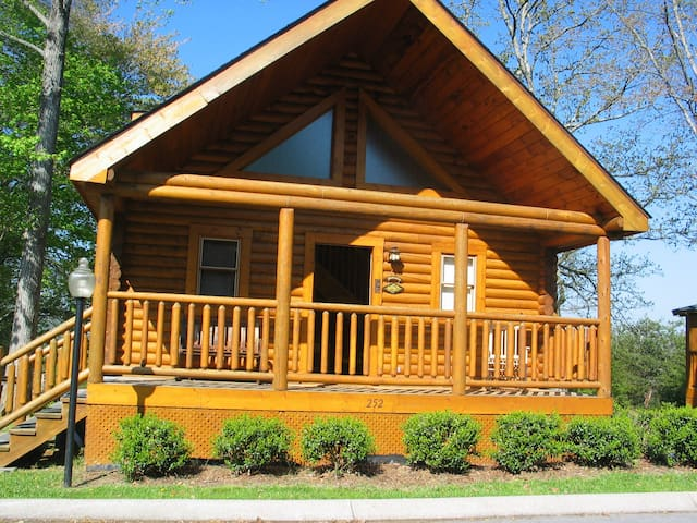 2 bedroom log cabin with mtn views
