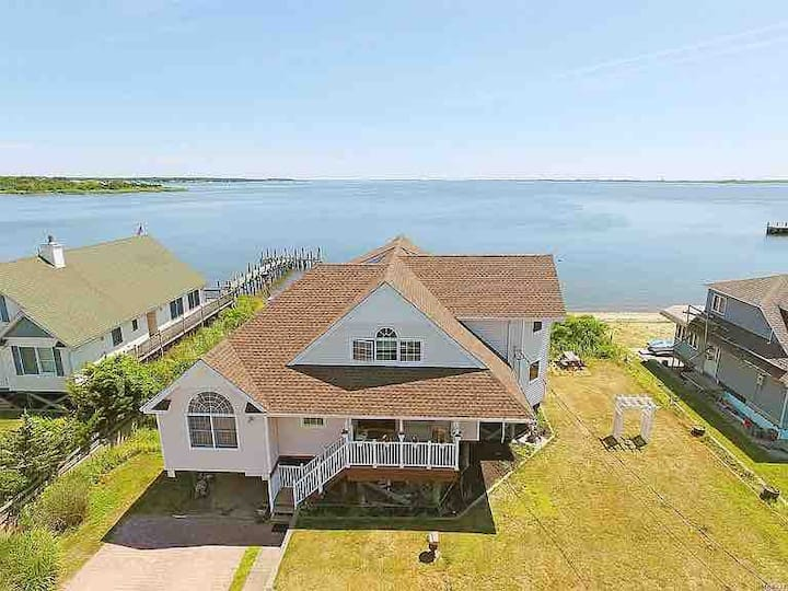 YOUR OWN private beach overlooking the Hampton's