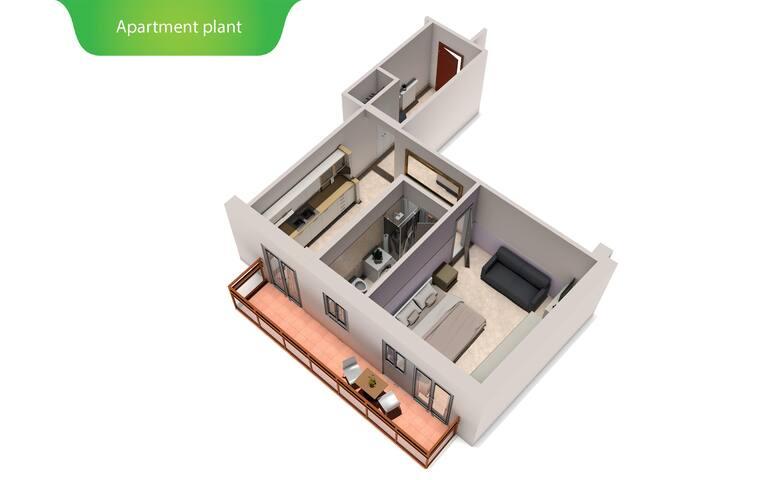 Apartment 3D plant