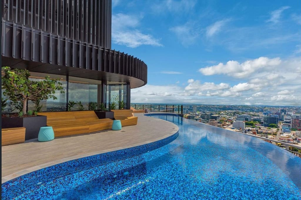 Rooftop Infinity Pool with City Views