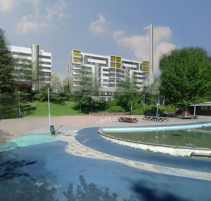 Outdoor swimming pool for children
