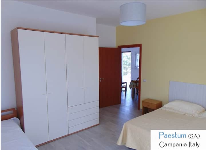 Paestum apartment B in villa 750 m from the sea