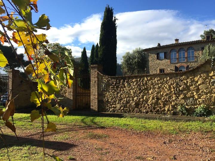 Splendid Tuscan villa offering stunning views