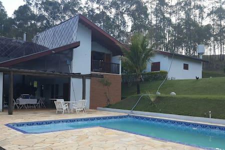 Chácara ideal para seu lazer - piscina e churrasco - Campo Limpo Paulista - Sommerhus/hytte
