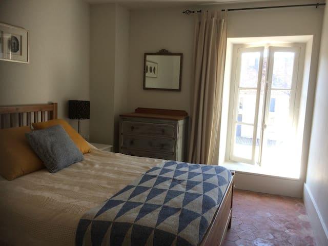 1st floor bedroom with shared bathroom