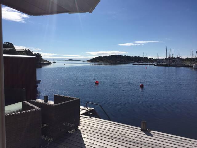 Sjønært med tilgang til privat brygge - Kristiansand