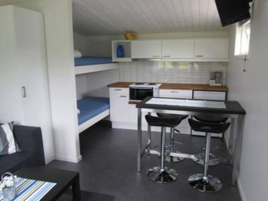 Snäppan 4 - Våningssäng och köksdel