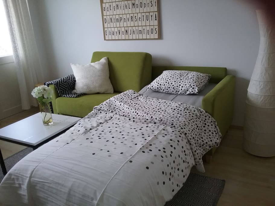 Sofa can be turned to one bed (80x200) or two beds (160x200)